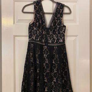 Mi Amore Black Flowered Dress